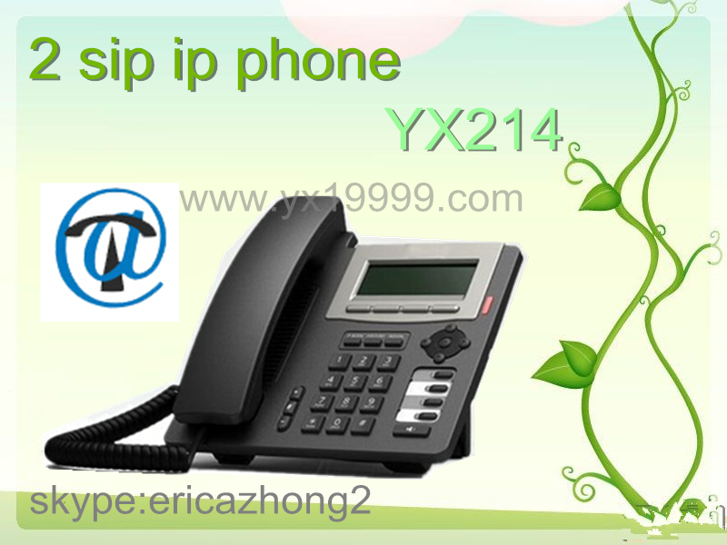 Low cost sip phone 2 sip accounts desktop wifi sip phone for Sip prices