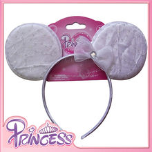 baby headband wholesale girls white flower tiara plastic knit headband for party for kids
