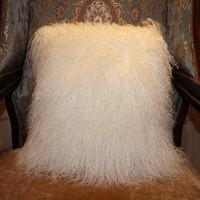 50*50 cm dyed color mongolian tibet lamb fur body pillow