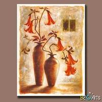 Custom Handmade decorative Classical vase flower painting for meeting room