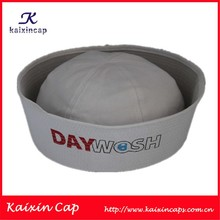 White Sailor Hat for Party with Custom Brand Logo Print