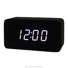 Most popular smart digital led decorative wooden Desk alarm clocks/Wooden clock