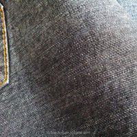 cotton woven twill denim fabric with slub