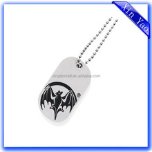 Promotional Zinc Alloy Nickel Free Custom Engraved Dog tags