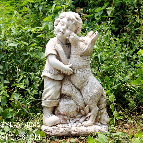 Wonderful SYL A14045.JPG. MGO Garden Landscaping Little Boy Garden Statue