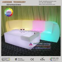 puff sofa con luz / modern fashion led lounge puff sofa (SF201)