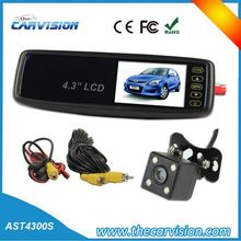 """4.3"""" Mirror monitor rearview system,dual car cam system"""