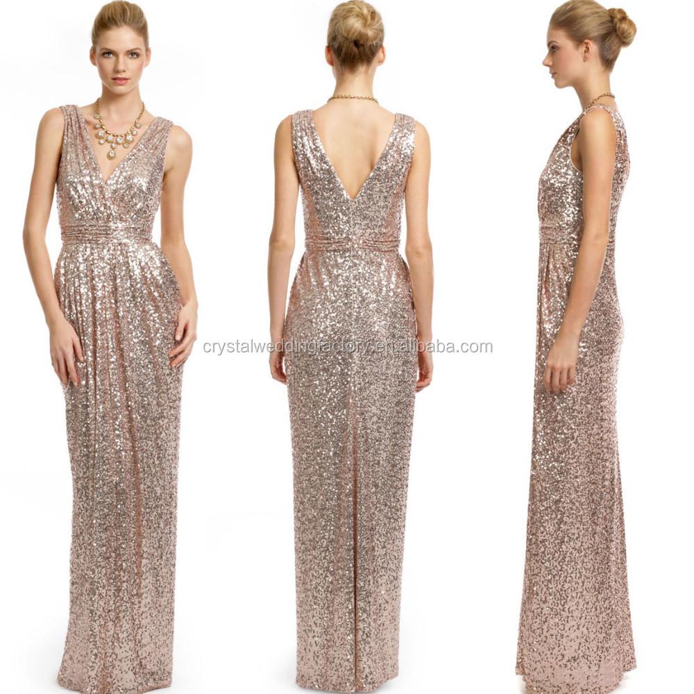 Gold Hochzeit Prom Lange Kleider Plus Größe Elegante Champagne Rose ...