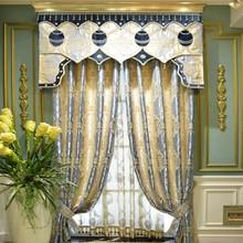 High grade jacquard European garden bedroom fashion curtain wholesale