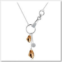 Alibaba wholesale unique fashion design jewelry 18k gold plated AUT crystal pendant necklace