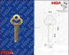 2015 nian new design iron blank key