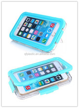 Blue plastic phone waterproof case for samsong edge6