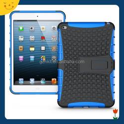 2015China wholesale! TPU+PC armor shockproof kickstand case for Apple ipad mini 4