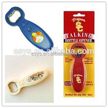 plastic custom voice recordable bottle opener