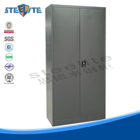 All welded structure metal clothes cabinet mirrored file cabinet filtered storage cabinet