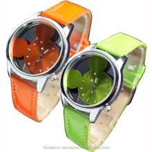 Colorful Cute Mouse Head Style Quartz Kids Children Wrist Watch as Gift Present