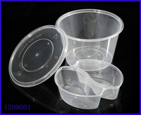 1000 ml round food tray with 2 insert compartment , Disposable takeout lunch tray, round insert food tray