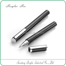 2015 short heavy metal refillable luxuries signature roller tip pen 0.5mm rollerball gel pen