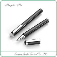Short heavy metal refillable luxuries signature roller tip pen 0.5mm rollerball gel pen