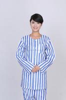 comfortable patient uniform maxi dresses with 100% cotton