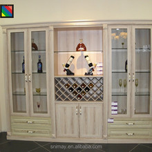Contemporary reasonable space wooden wine glass display bar cabinet