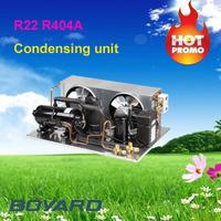 r404a lanhai mini compressor type condensator unit for commercial retail refrigerator island display cooler