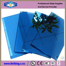 4mm dark blue reflective glass, reflective glass windows, one sided reflective glass