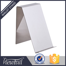 Fashion stores stainless steel wallet display rack
