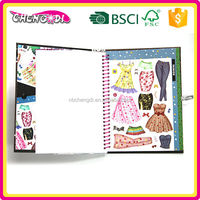 Magic children thick paper book printing, children sticker book printing, children sticker book