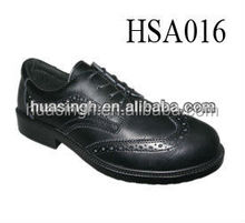 genuine leatehr lace up low cut engineer working safety dress shoes with steel toe cap