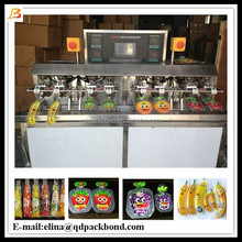 Bottle shape sachet water juice drink bag filling packing machine / Liquid yogurt plastic bag filling packing machine