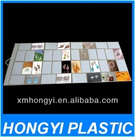 Vinyl display Picture Pocket, plastic exhibit photo pocket ablum. pvc collecting picture pockets