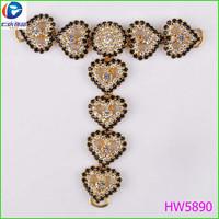 Newest style completely rhinestone beads shoe flower shoe clip
