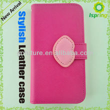 Side open book style flip leather case cover for samsung galaxy s3
