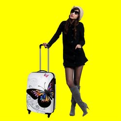 Woman luggage suitcase, 4-wheels trolley case