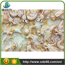 3d background wall decoration for restaurant and living room