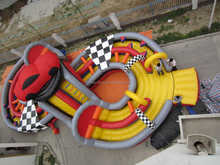 adrenaline rush extreme inflatable obstacle course
