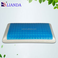 Cool Gel and Memory Foam pillow is 5 Inch thick; ideal for side, back and stomach sleepers blue gel pillow memory foam