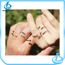 New arrival gold thin knuckle ring set