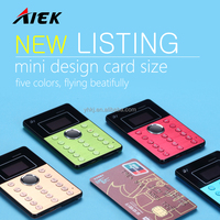 Ultra Thin AIEK Q7 Cool Card phone Child Kid Phone mini Music mobile Bluetooth Russian Multi-language
