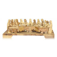 olive wood last supper craft