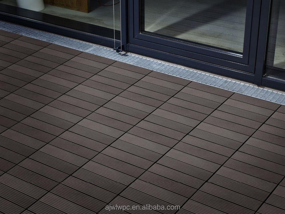 Wood Plastic Composite Interlocking Outdoor Deck Tiles For