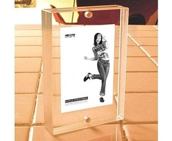 clear acrylic block photo frame
