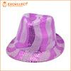 Customized New Fashion Design Paillette Women Fedora Hat