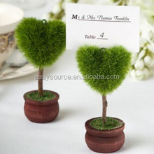 wholesale grenn tree heart shape name card holders wedding party gift table decoration seat card holder