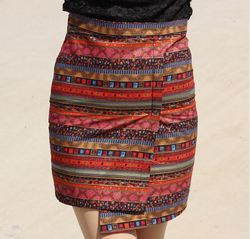 AliExpress behalf Spring Summer 2014 Ethnic cross split skirt skirts step skirt bag skirt linen skirt SML XL A