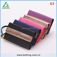Mobile cell phone universal wallet case for iPhone 4/4S/5/5S/6/6 Plus 3.5-6.3inch phones