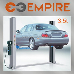 high quality made in China baseplate 3500kg two post car lifts for home garages