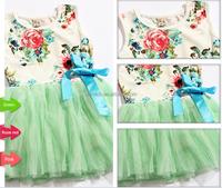 bulk green girls fashion dresses for 2-8 years girl