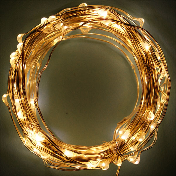 decorative light outdoor and indoor use 10m 100 led copper wire christmas string light for house. Black Bedroom Furniture Sets. Home Design Ideas